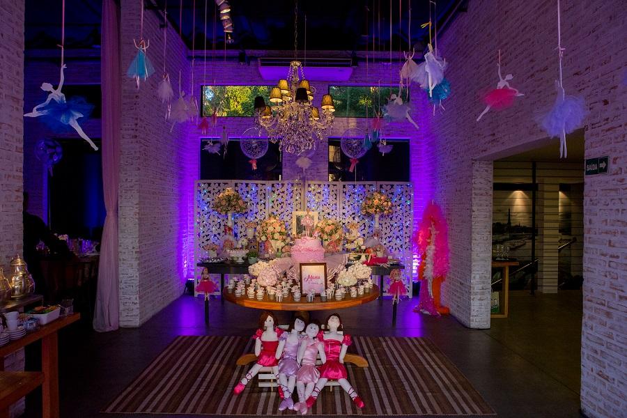 expressogourmet festa bailarina mesa doces bolo Festa Infantil com Tema Bailarina